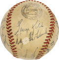 Autographs:Baseballs, 1952 Detroit Tigers Team Signed Baseball ....