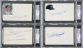 Autographs:Index Cards, Phil Rizzuto Autograph Index Cards PSA Graded Lot of 8... (Total: 8items)