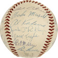 Autographs:Baseballs, 1956 Detroit Tigers Team Signed Baseball....