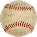 Autographs:Baseballs, 1949 Philadelphia Athletics Team Signed Baseball. ...