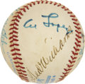 Autographs:Baseballs, Hall Of Famer Multi-Signed Baseball. ...