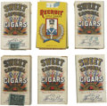 Baseball Cards:Other, 1910-Era Sweet Caporal and Recruit Tobacco Slide Tray BoxCollection (15)....