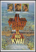 "Movie Posters:Academy Award Winner, The Bridge On The River Kwai (Columbia, R-1980s). Spanish One Sheet(27.5"" X 39""). Academy Award Winner...."