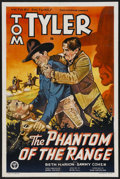 "Movie Posters:Western, The Phantom of the Range (Victory, 1936). One Sheet (27"" X 41"").Western...."
