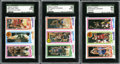 Basketball Cards:Lots, 1980-81 Topps Basketball SGC-Graded Group Lot of 3. ... (Total: 3cards)