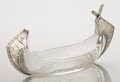 Silver Holloware, American:Bowls, AN AMERICAN SILVER AND GLASS CONDIMENT DISH. Maker unknown, circa1880. Marks: STERLING, 50. 4-1/2 inches high x 9-5/8 i...