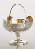 Silver Holloware, American:Baskets, AN AMERICAN COIN SILVER AND SILVER GILT BASKET. Albert Coles, NewYork, New York, circa 1850. Marks: (eagle), (A over C), (p...