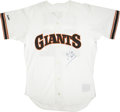 Autographs:Jerseys, Will Clark and Daryl Strawberry Signed Jerseys Lot of 2....