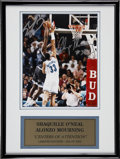 Basketball Collectibles:Others, Shaquille O'Neal and Alonzo Mourning Dual-Signed Photograph. ...