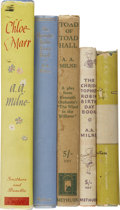 Books:Children's Books, A. A. Milne. Five Books, including: The Christopher Robin StoryBook. London, 1929. First edition. Two shallow dents... (Total:5 Items)