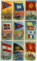 Non-Sport Cards:General, 1909-11 T59 Flags of All Nations Collection (27). ...