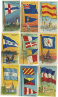 Non-Sport Cards:General, 1909-11 T59 Flags of All Nations Collection (55). ...