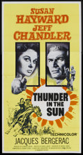 "Movie Posters:Western, Thunder in the Sun (Paramount, 1959). Three Sheet (41"" X 81""). Western...."