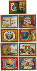 Non-Sport Cards:General, 1910-1911 T107 State Seals and National Coats of Arms Collection(90). ...