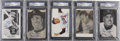 Autographs:Index Cards, Duke Snider Signed Photos and Postcards, PSA Graded Lot of 5....(Total: 5 items)