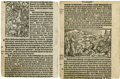 Books:Early Printing, [Bible in English]. Two black letter Bible leaves from Tyndale's Version printed by R. Jugge in 1552.... (Total: 2 Items)