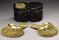 Military & Patriotic:Civil War, The Gold 2nd US Cavalry Epaulets of Albert Sidney Johnston as a Colonel Two beautiful gold dress epaulets of then-Colonel Al...