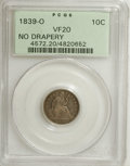 """Seated Dimes: , 1839-O 10C No Drapery VF20 PCGS. Huge O. Fortin-108. Fortincomments, """"A very scarce variety that is infrequently offered d..."""