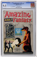 Silver Age (1956-1969):Mystery, Amazing Adult Fantasy #10 (Marvel, 1962) CGC VG+ 4.5 Off-white towhite pages....
