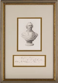 """Autographs:Military Figures, Confederate General Albert Sidney Johnston Framed Signature Excised from a Document. One page, 5.75"""" x 1.75"""", framed with an..."""