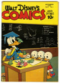 Golden Age (1938-1955):Cartoon Character, Walt Disney's Comics and Stories #61 (Dell, 1945) Condition:VG/FN....