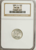 Barber Dimes: , 1892-O 10C MS66 NGC. Well struck and brilliant, with vibrant lusterand outstanding surface preservation. An unusually clea...