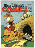 Golden Age (1938-1955):Cartoon Character, Walt Disney's Comics and Stories #53 (Dell, 1945) Condition:FN/VF....