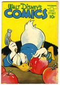 Golden Age (1938-1955):Cartoon Character, Walt Disney's Comics and Stories #62 (Dell, 1945) Condition:GD/VG....