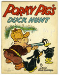 Golden Age (1938-1955):Cartoon Character, Porky Pig's Duck Hunt #2178 (Saalfield Publishing Co., 1938)Condition: FN....