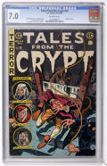Golden Age (1938-1955):Horror, Tales From the Crypt #44 (EC, 1954) CGC FN/VF 7.0 Off-whitepages....