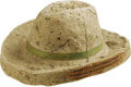 Miscellaneous:Other, Macerated Currency Hat. This is a very nice approximate 1 1/2 inch tall macerated hat that has retained its original green r...