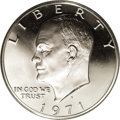 Proof Eisenhower Dollars: , 1971-S $1 Silver PR70 Deep Cameo PCGS. Though the 40% silver-clad composition begun in 1965 f...