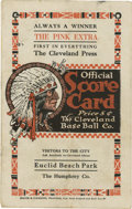 Baseball Collectibles:Publications, 1917 Cleveland Indians Official Scorecard. Exceptional vintageexample of an official scorecard from the Cleveland Indians'...
