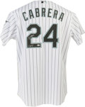 Baseball Collectibles:Uniforms, 2005 Miguel Cabrera Signed Game Used Signed Jersey. ...