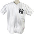 Autographs:Jerseys, Reggie Jackson Signed Statistics Jersey. One of the finest ReggieJackson signed jerseys on earth. Fine replica of the Hal...