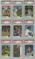 Baseball Cards:Sets, 1973 Topps Baseball Complete Set (684). Includes set of 24 team checklists. A total of 19 cards have been graded with an ag...