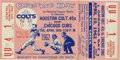 Baseball Collectibles:Tickets, 1962 Houston Colt .45s Inaugural Game Full Ticket. Tremendoushistorical marker calls back to Opening Day 1962 from the ina...