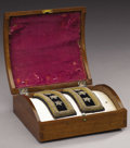"Military & Patriotic:Civil War, Ulysses S. Grant's Boxed Set of Lieutenant General's Shoulder Insignia ca. 1864 Each strap measures 4"" x 1.5"" and rests in a... (Total: 3 )"