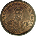 Coins of Hawaii: , 1847 1C Hawaii Cent MS63 Red and Brown PCGS. Crosslet 4, 15 berries. M. 2CC-2. Brick-red luster fills the margins and outli...