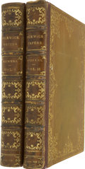 Books:Fiction, Charles Dickens. The Posthumous Papers of the Pickwick Club. [London:] Issued for Private Use by Chapman and Hall, [... (Total: 2 Items)