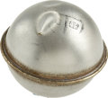 Explorers:Space Exploration, Gemini 3 Flown Floatation Ball with original McDonnell SpacecraftParts Tag. ...