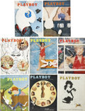 Books:Periodicals, Playboy (1954-60) Group of Eight Issues Featuring Fictionand Non-Fiction by Ray Bradbury.... (Total: 8 Items)