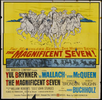 "The Magnificent Seven (United Artists, 1960). Six Sheet (81"" X 81""). Western"