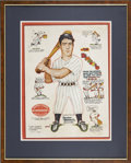 Baseball Collectibles:Others, 1940 Joe DiMaggio Hillerich & Bradsby Advertising Sign. ...