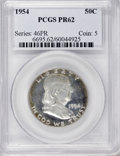 Proof Franklin Half Dollars: , 1954 50C PR62 PCGS. PCGS Population (18/3274). NGC Census:(12/2347). Mintage: 233,300. Numismedia Wsl. Price for NGC/PCGS ...