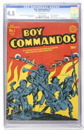 Golden Age (1938-1955):War, Boy Commandos #1 (DC, 1942) CGC VG+ 4.5 Off-white pages....