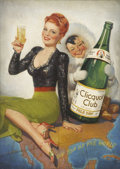 Mainstream Illustration, FREDERICK SANDS BRUNNER (American 1886 - 1954). On Top of theWorld, Clicquot Club Advertising Illustration, circa 1940-...