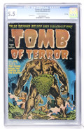 Golden Age (1938-1955):Horror, Tomb of Terror #1 File Copy (Harvey, 1952) CGC FN- 5.5 Slightlybrittle pages....
