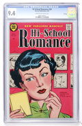 Golden Age (1938-1955):Romance, Hi-School Romance #39 File Copy (Harvey, 1955) CGC NM 9.4 Cream tooff-white pages....