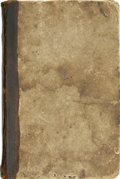 "Autographs:Celebrities, Whaling Journal. Remarkable 8.5"" x 12.75"", 96 page whaling journalof the vessel St. George on its 1839-1843 voyage..."